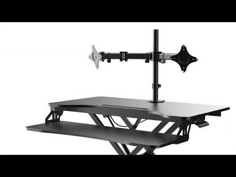 Rocelco VADRB – Hi-Lift Adjustable Desk Riser
