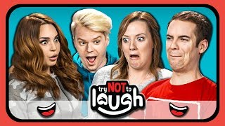 YouTubers React To Try to Watch This Without Laughing Or Grinning #27