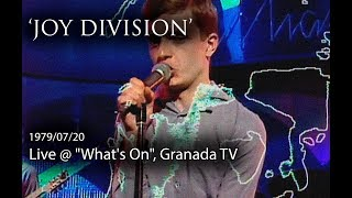 Joy Division - She's Lost Control (live @ Granada TV)