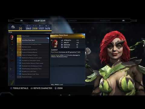Injustice 2 Poison Ivy Gear Showcase