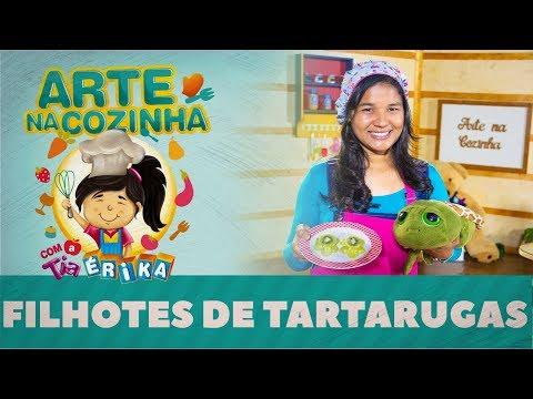FILHOTES DE TARTARUGAS | Arte na cozinha com a Tia Érika