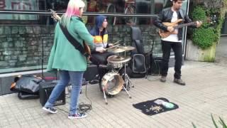 bass battle on the street
