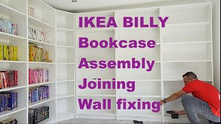 IKEA BILLY Bookcase Assembly, Joining BILLY Bookcase And Wall Fixing Of Ikea BILLY Bookcase