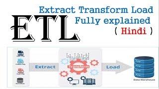 ETL ( Extract Transform Load )   process fully explained  in hindi   Datawarehouse