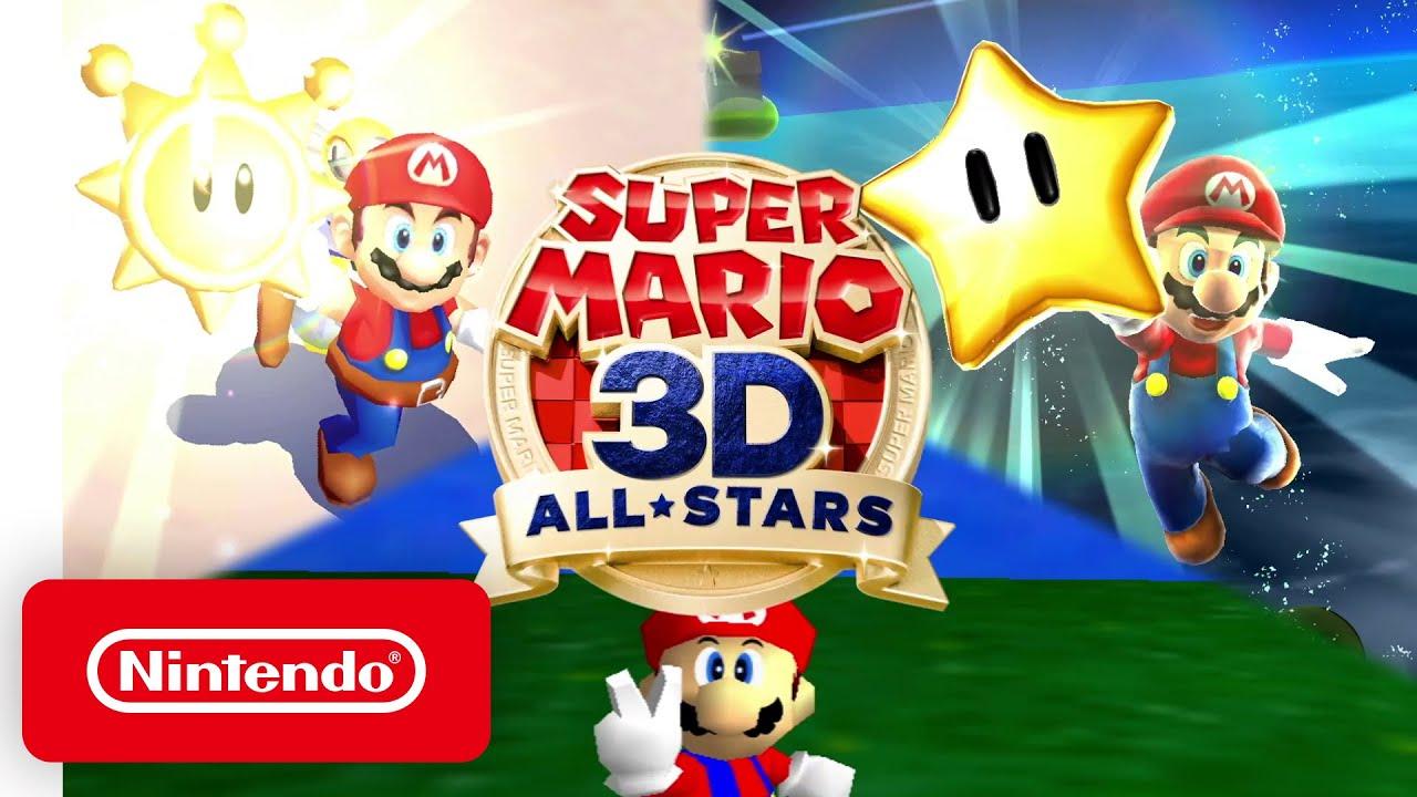 《超級瑪利歐 3D全明星》公開,9月18日登陸Switch,收錄《超級瑪利歐64》《陽光瑪利歐》《超級瑪利歐銀河》三部作品。 Maxresdefault