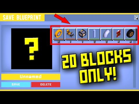 20 BLOCK ONLY RACE!  Scrap Mechanic Multiplayer Monday! Ep 68