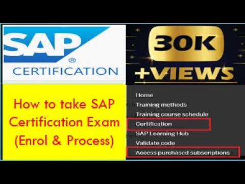 How to take SAP Certification Exam | How to become SAP Certified ...