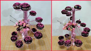 DIY SPIRAL CUPCAKE STAND USING PVC TUBE AND WIRE / FOR ANY OCCASIONS / PARTY IDEAS