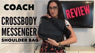 COACH CROSSBODY F68015 HOUSTON MAP LEATHER CROSSBODY MESSENGER SHOULDER BAG - REVIEW