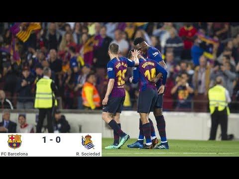 Season 2017/2018. FC Barcelona - Real Sociedad - 1:0