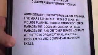 Write a Summary for a Resume