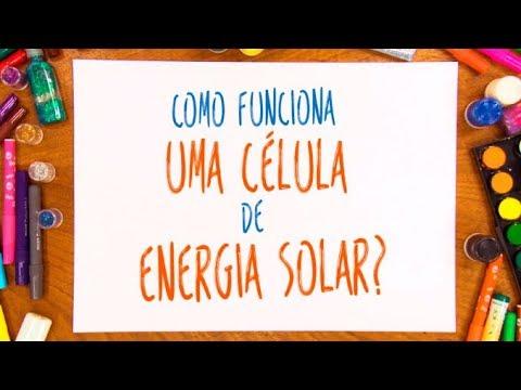 Como funciona uma célula de energia solar?