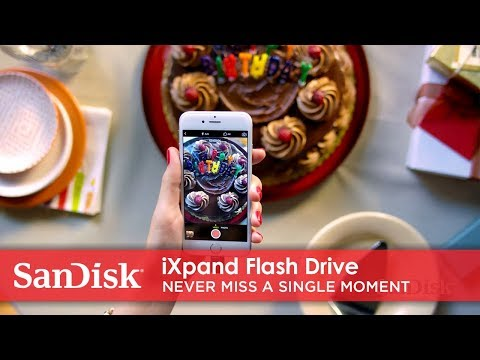 Video penyimpanan foto dan video secara langsung ke iXpand Flash Drive