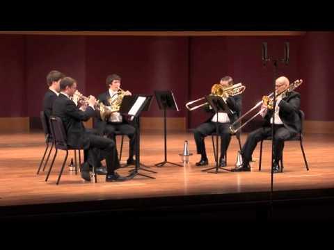 William's brass quintet plays Ave Maria by Franz Biebl