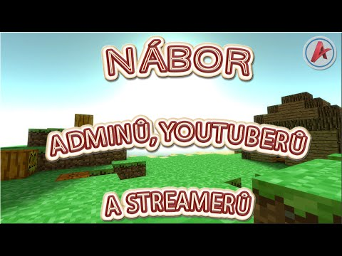 Minecraft nábor adminů, youtuberů a streamerů na server NPAGaming.eu