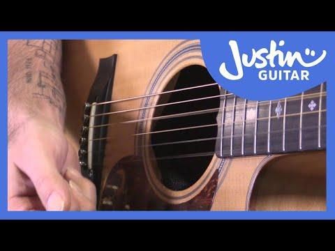 Rolling Chords Acoustic Fingerstyle Technique  - JustinGuitar - Guitar Lesson [TE-705]
