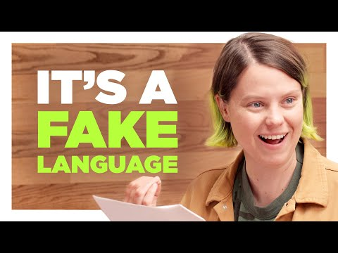 You Created A Fictional Language For A Sketch?
