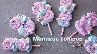 How to make Lollipop Meringue Cookie - Maison Olivia