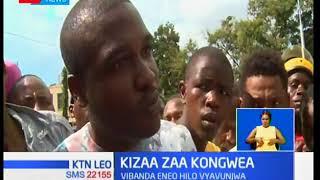 Kizaza kilishuhudiwa katika soko la Kongowea baada ya maafisa wa KeNHA kubomoa vibanda