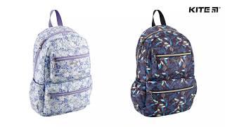 """Рюкзак молодежный Kite Beauty K18-884L-1 от компании Интернет-магазин """"Радуга"""" - школьные рюкзаки, канцтовары, творчество - видео"""