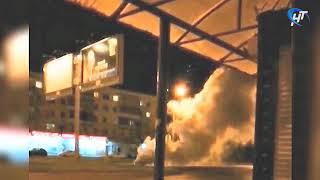 Компания молодых людей зажгла дымовую шашку в районе дома № 40 по проспекту Мира