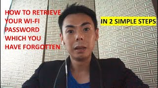 How to retrieve the WiFi password which you have forgotten?