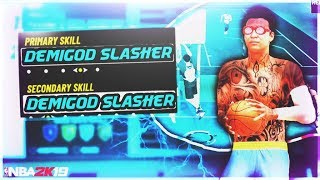 The BEST SLASHER BUILD and ANIMATIONS in NBA2K19