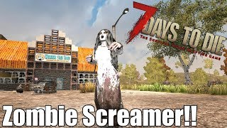 7 Days to Die - Zombie Screamers - What Heat Level do they Spawn at? (Alpha 16)