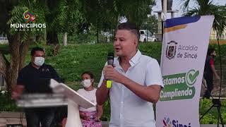 TV MUNICIPIOS- EN SINCÉ– SUCRE LA ALCALDÍA MUNICIPAL INAUGURÓ EL PARQUE DE LA INMACULADA CONCEPCIÓN