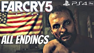 FARCRY 5 - ALL ENDINGS (All 3 Endings) Bad, Good, Nuclear [1080P 60FPS]
