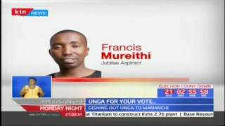 Unga for vote as Embakasi East candidate Francis Mureithi hand outs packets of maize flour
