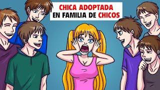 La única Chica Adoptada En Una Familia De Chicos | Mi Historia Animada