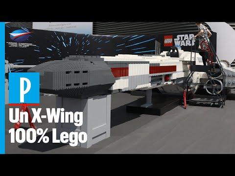 LEGO 打造真實樂高比例版本 Star Wars X-Wing 戰機 @Paris Air Show