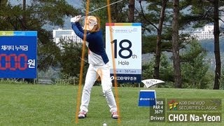 [Slow HD] CHOI Na-Yeon 2013 Driver With Practice Golf Swing (1)