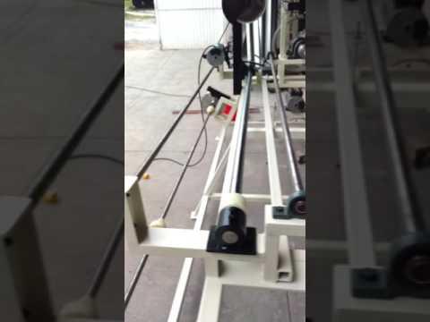 Cortadora embobinadora de rollos de tela con contador de metros