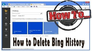 How to Delete Bing History