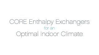 CORE Enthalpy Exchangers for an Optimal Indoor Climate