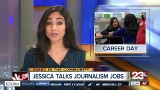 Jessica talks journalism jobs at Career Day