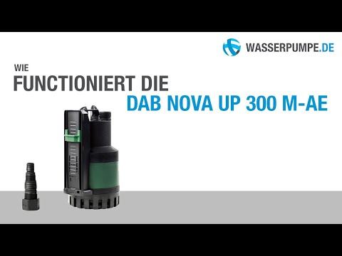 DAB Nova Up 300 M-AE Flachsauger Tauchpumpe in Aktion