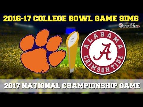 2017 NCAA National Championship Game Sim - Alabama vs Clemson (NCAA Football 14 - Xbox 360)