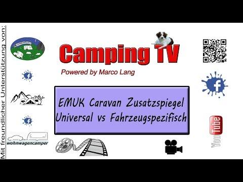 EMUK Caravan Zusatzspiegel Universal vs  Fahrzeugspezifisch
