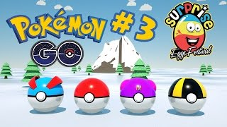 Surprise Eggs Pokemon Go Edition #3 - Pokemon Cartoon Animation for Kids by Surprise Eggs Festival