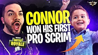 CONNOR WON HIS FIRST PRO SCRIM?! TIED HIS KILL RECORD? (Fortnite: Battle Royale)