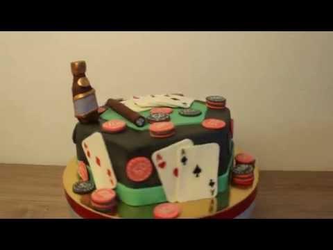 Как украсить торт для любителя казино