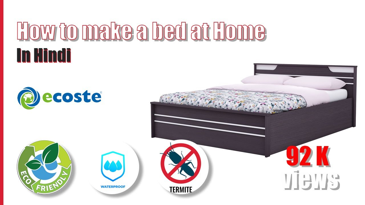 Bed Making By Ecoste EBRID Board With 100% Water Proof & Termite Proof Life Time Guarantee !!