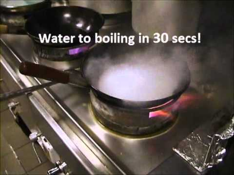 ack turbo wok burner water boiling demonstration