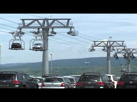 Le Funitel de Bratislava, le transport de véhicules par le câble