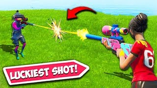 *WORLDS LUCKIEST* SNIPER SHOT EVER!! – Fortnite Fails and WTF Moments! #616