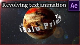 Revolving text animation around sphere - After Effects tutorial