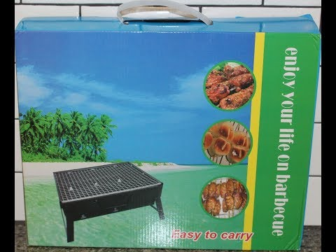Uten Portable Barbecue Charcoal Grill Unboxing & Review